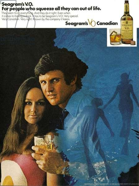 1970s USA, Seagram's Magazine Advert