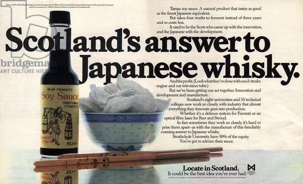 Relocation to Scotland Magazine, advert, UK, 1980s