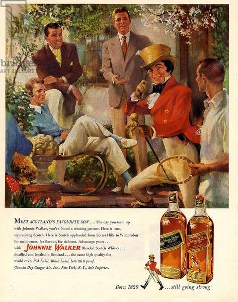 Johnnie Walker Magazine Advert, USA, 1950s