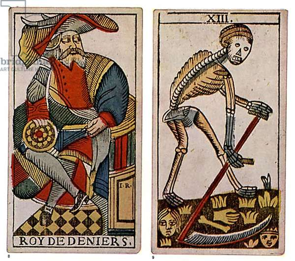 Tarot Cards Book Plate, France, 1840s & Pre