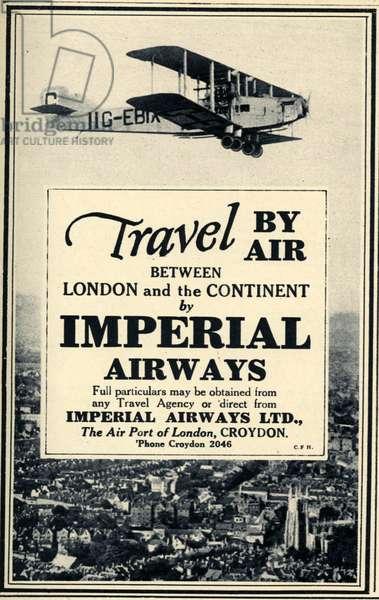 Imperial Airways Magazine Advert, UK, 1920s