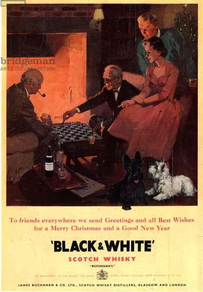 Black and White Whisky Magazine, advert, UK, 1930s