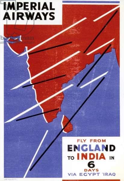 1930s UK Imperial Airways Poster
