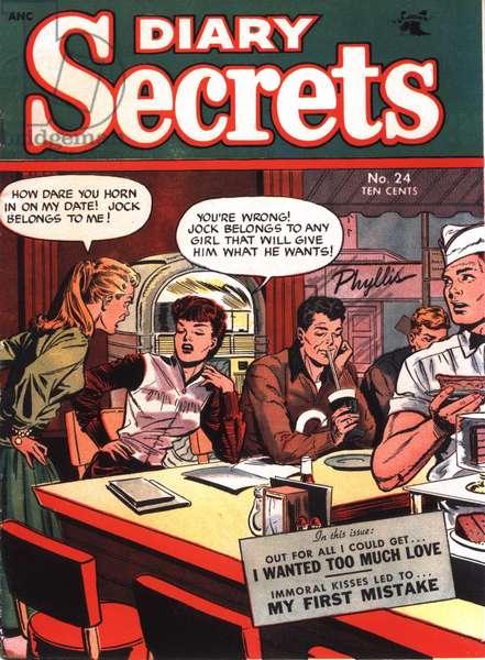 Diary Secrets Magazine Cover, USA, 1950s