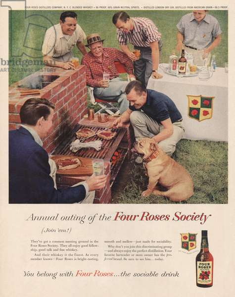 Four Roses Magazine, advert, USA, 1950s