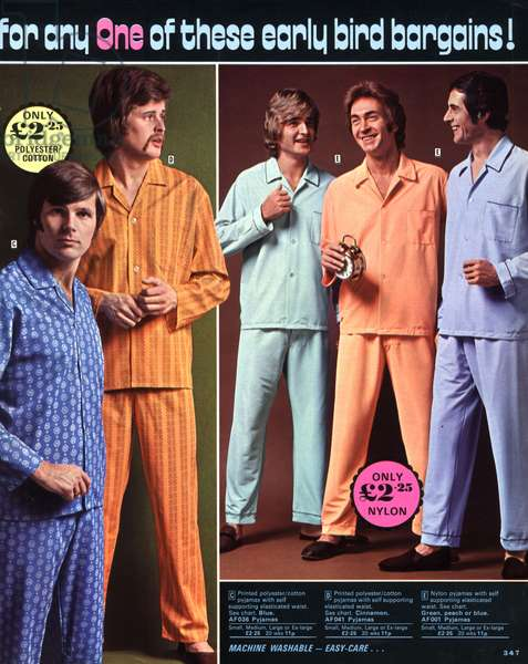Mens Fashion 1970s Catalogue/ Brochure Plate, UK, 1970s