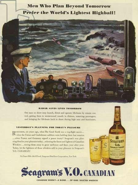 Seagram's Magazine Advert, USA, 1940s