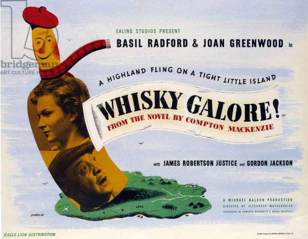 Whisky Galore Film Poster, UK, 1940s