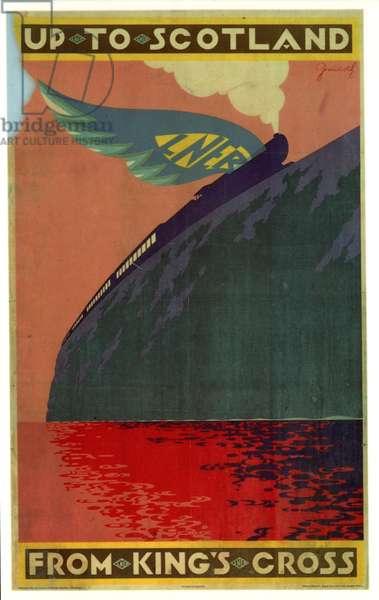 Flying Scotsman Scotland Trains Poster, UK, 1930s