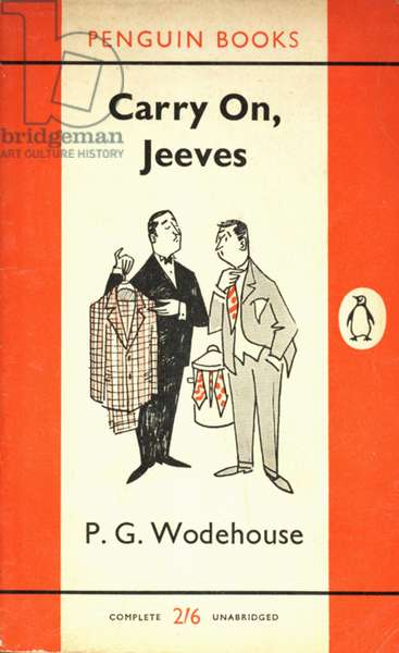 Carry On, Jeeves by P.G. Wodehouse Book Cover, UK, 1960s