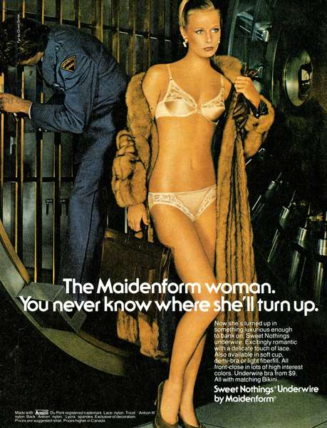 1970s USA, Maidenform Magazine Advert