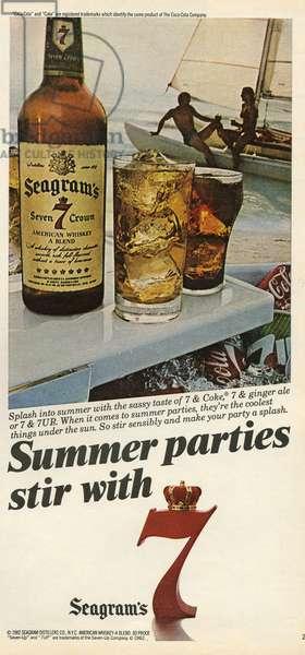 Seagrams Magazine Advert, USA, 1980s