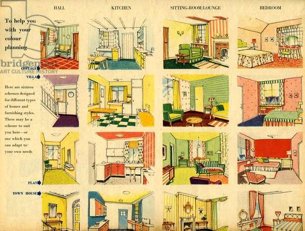 Home Decorating Magazine Plate, UK, 1950s