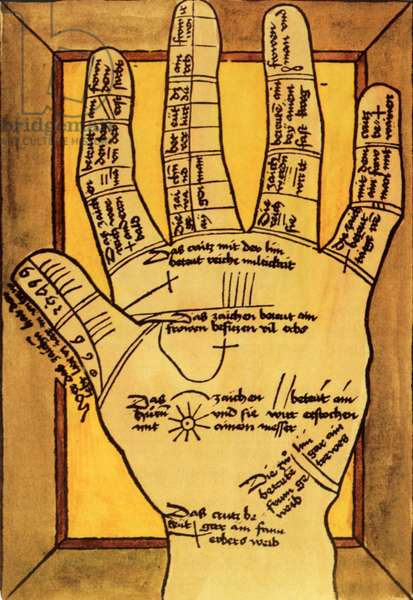 Fortune Telling Palmistry Magazine Plate, UK, 1840s & Pre