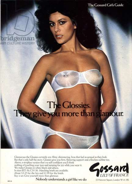 Gossard Magazine, advert, UK, 1980s