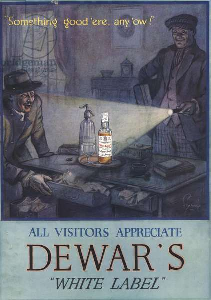 Dewar's White Label Magazine, advert, UK, 1930s