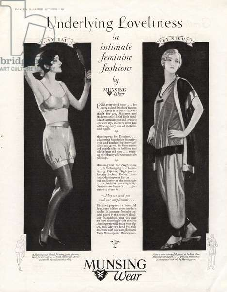 Munsingwear Magazine, advert, USA, 1920s