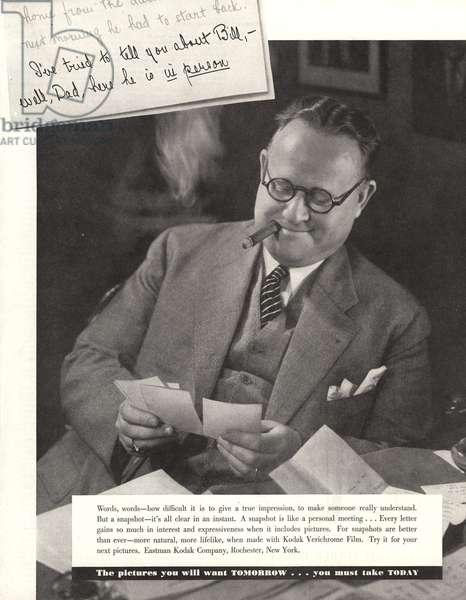 Kodak Magazine, advert, USA, 1930s