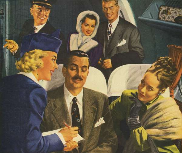 Pan American World Airways Magazine Advert (detail), USA, 1930s