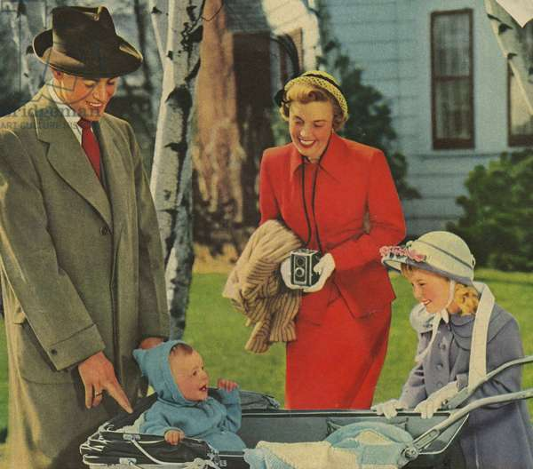 Kodak Magazine, advert (detail), USA, 1950s