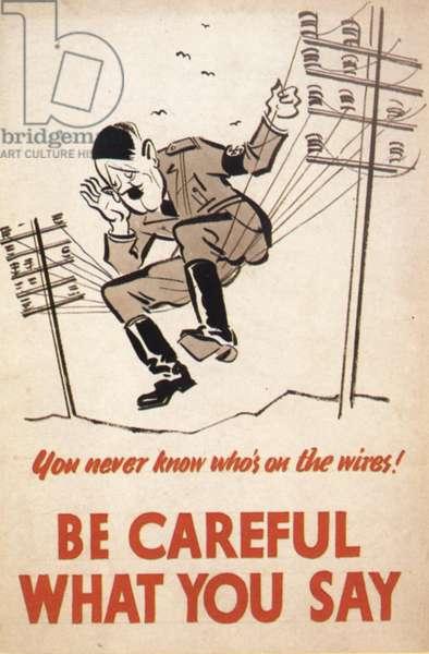 Loose Talk Poster, UK, 1940s