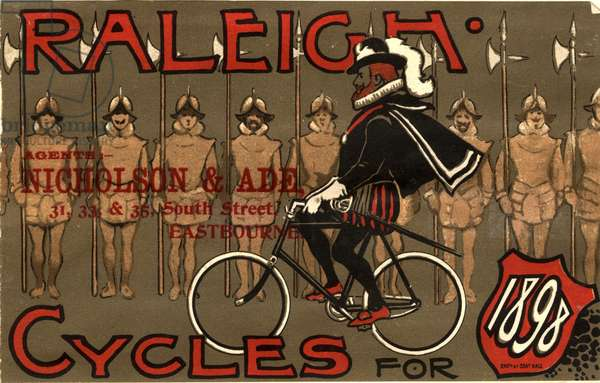 Raleigh Bicycles Magazine, advert, UK, 1890s