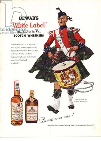 Dewar's Magazine, advert, USA, 1950s