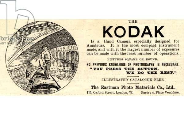 Kodak Magazine, advert, UK, 1890s