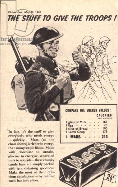 Mars Magazine, advert, UK, 1940s