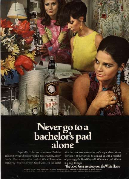 White Horse Magazine, advert, UK, 1970s