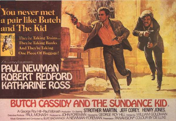 Butch Cassidy And The Sundance Kid Film Poster, USA, 1960s