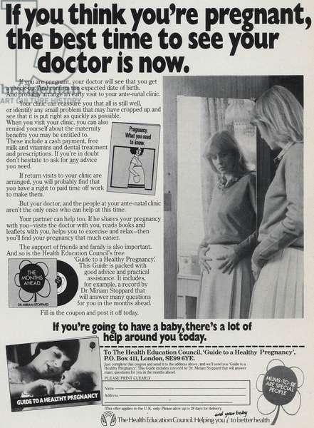 Health Education Council Magazine Advert, UK, 1960s