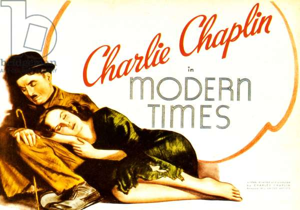 Modern Times, Film poster, USA, 1930s