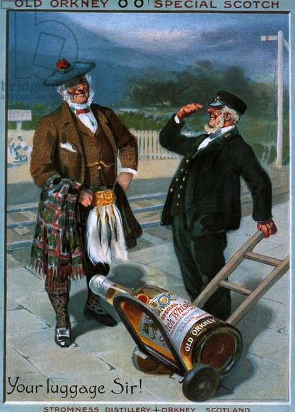 O.O Whisky, Old Orkney Poster, UK, 1900s