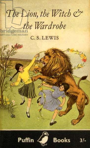 The Lion, The Witch and the Wardrobe Book Cover, UK, 1950s