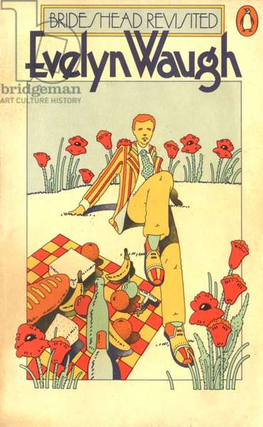 Brideshead Revisited by Evelyn Waugh Book Cover, UK, 1980s