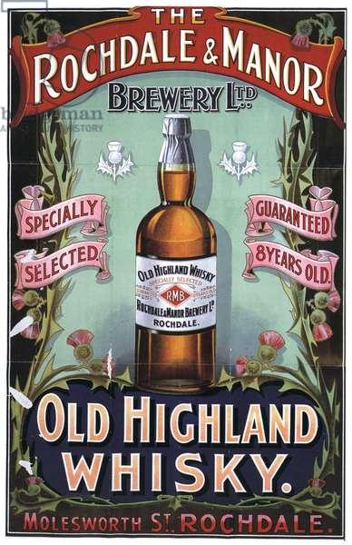 Old Highland Whisky Magazine, advert, UK, 1910s