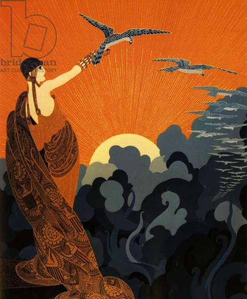 Art Deco Magazine Plate, USA, 1910s