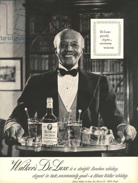 Walkers De Luxe Magazine, advert, USA, 1950s