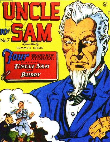 Uncle Sam Comic/ Annual Cover, USA, 1940s