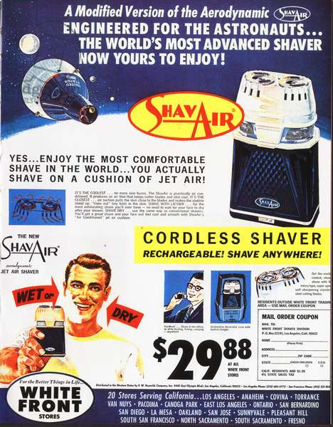 Shavair Magazine, advert, USA, 1960s