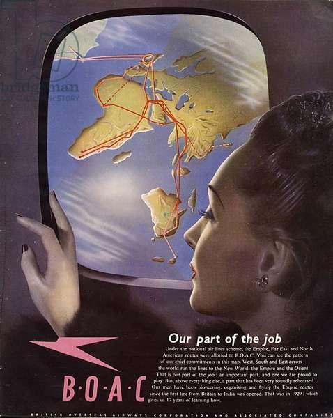 British Airways Magazine Advert, UK, 1940s