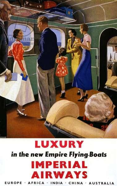 Imperial Airways Magazine Advert, UK, 1940s
