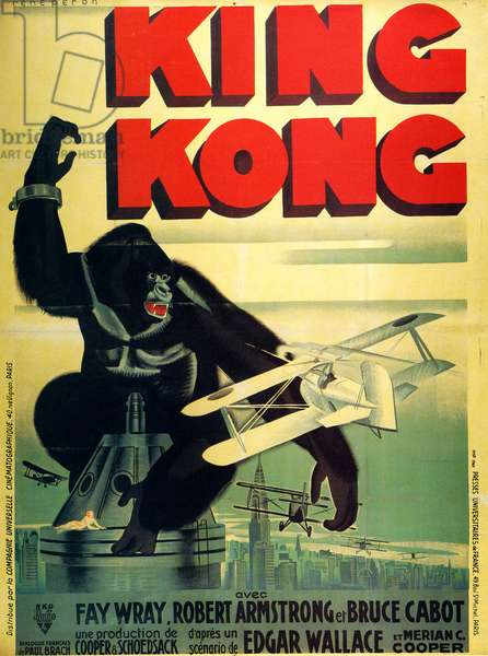 King Kong, Film poster, USA, 1930s
