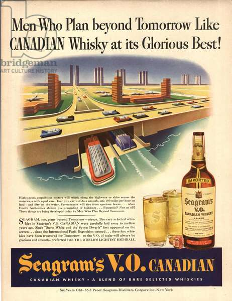 Seagram's Magazine, advert, USA, 1940s