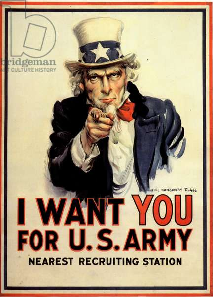 Uncle Sam Recruitment Poster, USA, 1910s