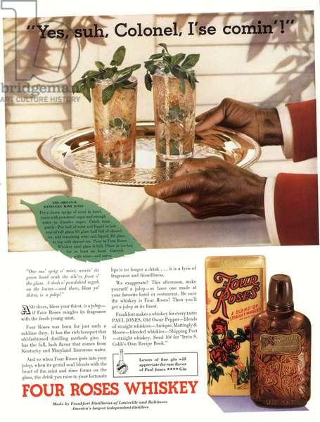 Four Roses Magazine, advert, USA, 1930s