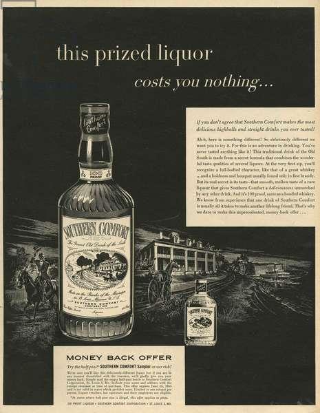 Southern Comfort Magazine, advert, USA, 1950s