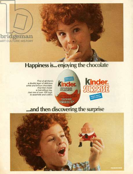 Kinder Magazine Advert, UK, 1980s