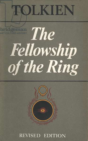 The Fellowship of the Ring by Tolkien Book Cover, UK, 1970s